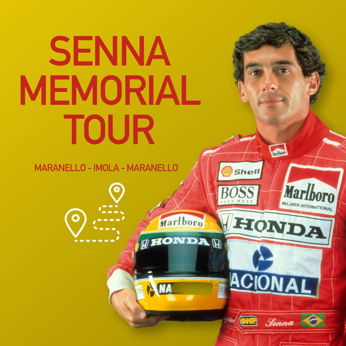 Senna Memorial Tour in Ferrari